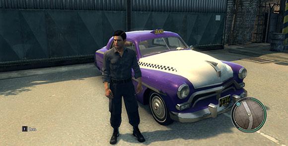 Новое сиреневое такси для Mafia 2
