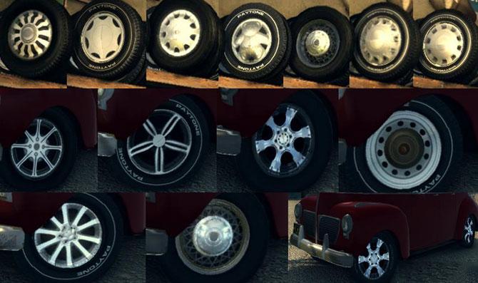 мод новые красивые колёса для Mafia 2